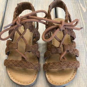 Brown kids sandals